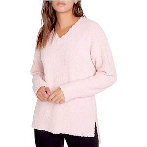 SANCTUARY pink popcorn teddy oversized sweater med